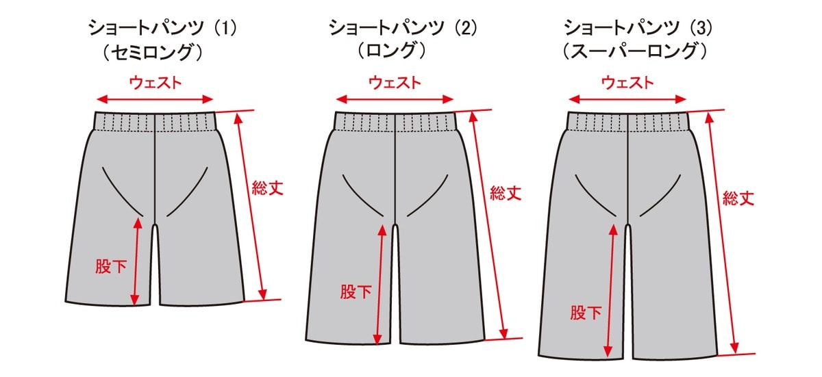 パンツサイズ表